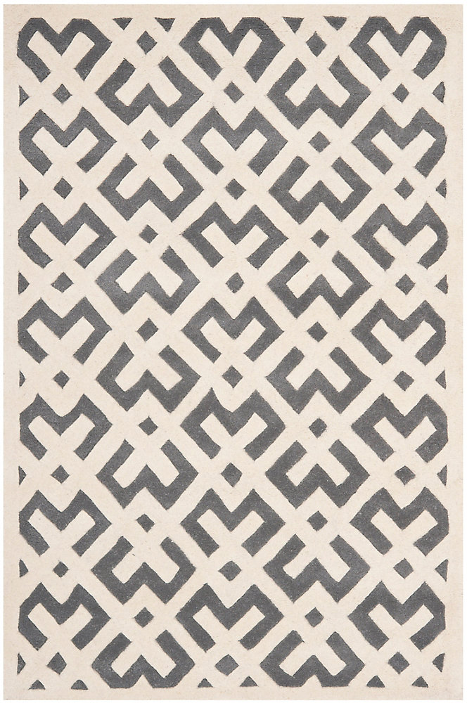 Chatham Oakly Dark Grey / Ivory 4 ft. x 6 ft. Indoor Area Rug