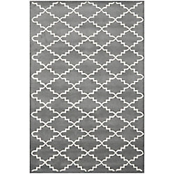 Safavieh Chatham Philip Dark Grey / Ivory 5 ft. x 8 ft. Indoor Area Rug