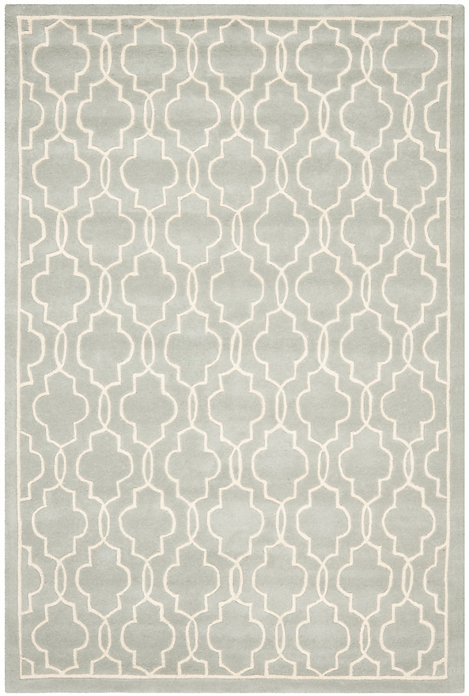 Chatham Pascal Grey / Ivory 6 ft. x 9 ft. Indoor Area Rug