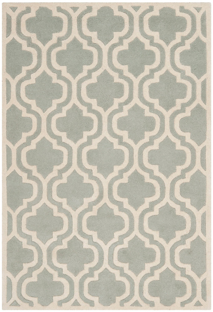 Chatham Robin Grey / Ivory 4 ft. x 6 ft. Indoor Area Rug