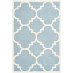 Safavieh Tapis d'intérieur, 4 pi x 6 pi, Chatham Abe, bleu / ivoire