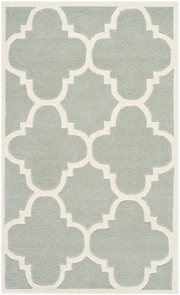 Chatham Abe Grey / Ivory 3 ft. x 5 ft. Indoor Area Rug