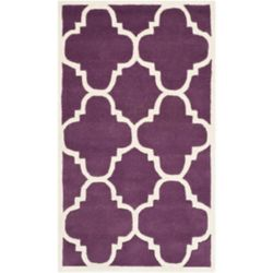 Safavieh Chatham Abe Purple / Ivory 3 ft. x 5 ft. Indoor Area Rug