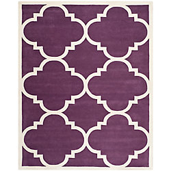 Safavieh Chatham Abe Purple / Ivory 8 ft. x 10 ft. Indoor Area Rug