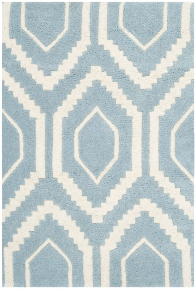 Chatham Beau Blue / Ivory 2 ft. x 3 ft. Indoor Area Rug