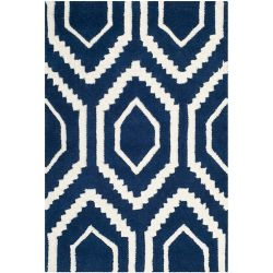 Safavieh Chatham Beau Dark Blue / Ivory 2 ft. x 3 ft. Indoor Area Rug