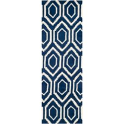 Safavieh Chatham Beau Dark Blue / Ivory 2 ft. 3 inch x 9 ft. Indoor Runner