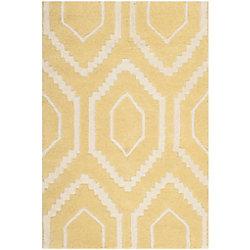 Safavieh Chatham Beau Light Gold / Ivory 2 ft. x 3 ft. Indoor Area Rug