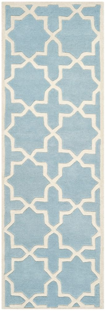 Chatham Carlton Blue / Ivory 2 ft. 3 inch x 5 ft. Indoor Runner