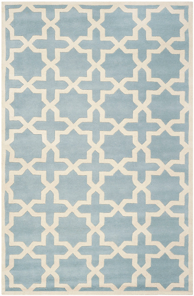 Chatham Carlton Blue / Ivory 6 ft. x 9 ft. Indoor Area Rug