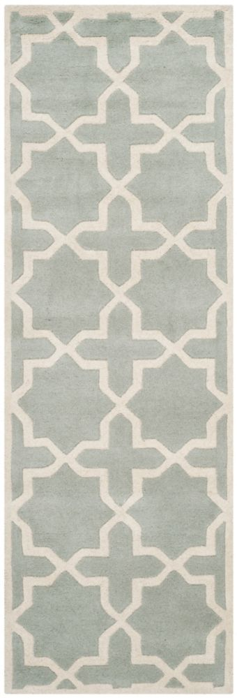 Chatham Carlton Grey / Ivory 2 ft. 3 inch x 11 ft. Indoor Runner