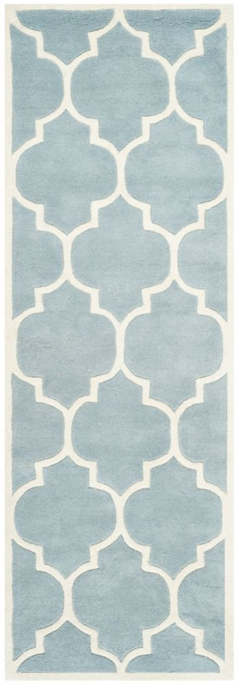 Chatham Caprice Blue / Ivory 2 ft. 3 inch x 9 ft. Indoor Runner