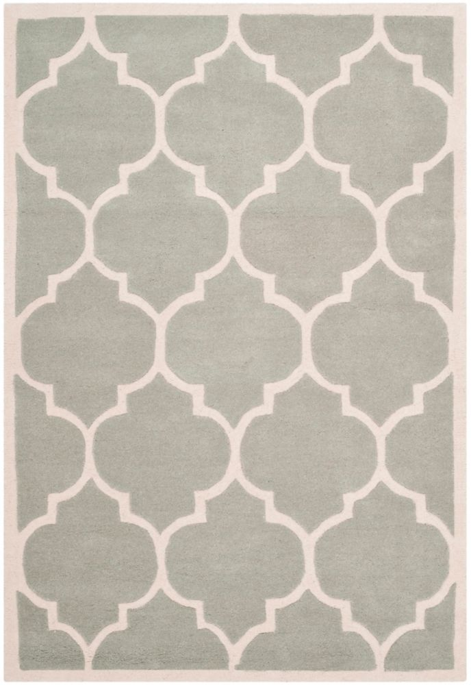 Chatham Caprice Grey / Ivory 4 ft. x 6 ft. Indoor Area Rug