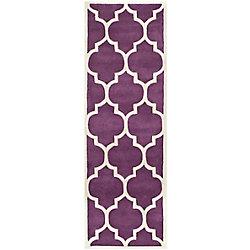 Safavieh Chatham Caprice Purple / Ivory 2 ft. 3 inch x 11 ft. Indoor Runner