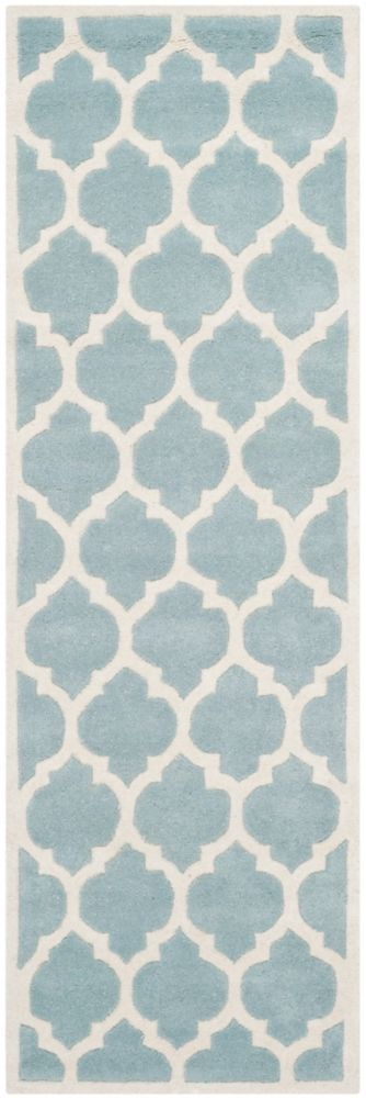 Chatham Candace Blue / Ivory 2 ft. 3 inch x 9 ft. Indoor Runner
