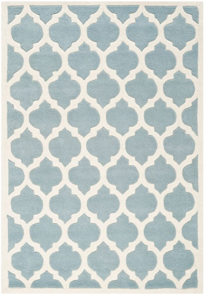 Safavieh Chatham Candace Blue / Ivory 5 ft. x 8 ft. Indoor Area Rug