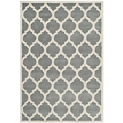 Safavieh Chatham Candace Dark Grey / Ivory 4 ft. x 6 ft. Indoor Area Rug
