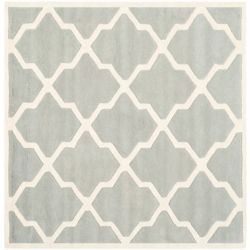 Safavieh Chatham Stephen Grey / Ivory 5 ft. x 5 ft. Indoor Square Area Rug