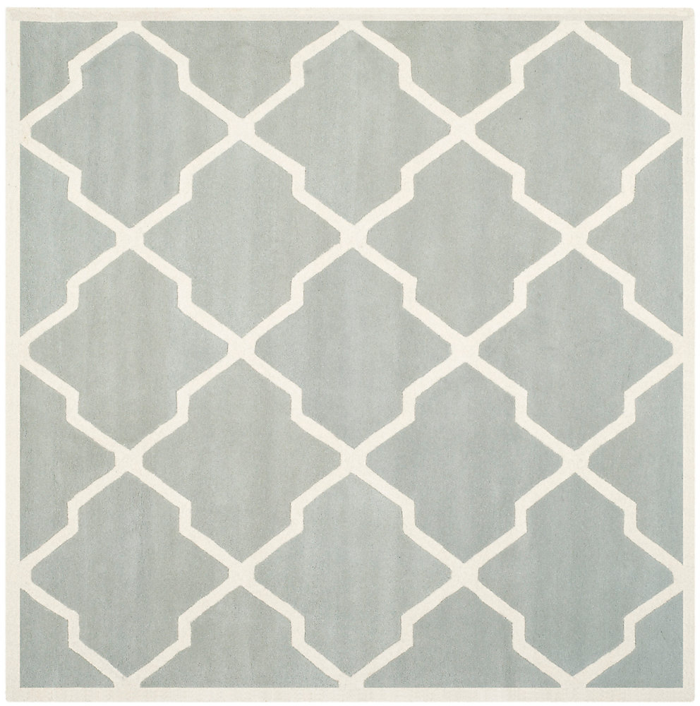 Chatham Stephen Grey / Ivory 7 ft. x 7 ft. Indoor Square Area Rug