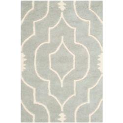 Safavieh Tapis d'intérieur, 3 pi x 5 pi, Chatham Romain, gris / ivoire