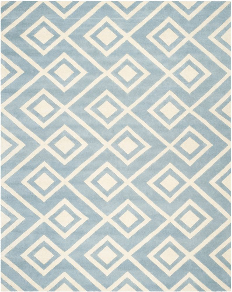 Chatham Clyde Blue / Ivory 8 ft. x 10 ft. Indoor Area Rug