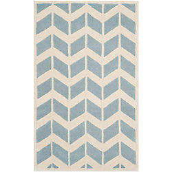 Safavieh Chatham Cecil Blue / Ivory 2 ft. 6 inch x 4 ft. Indoor Area Rug
