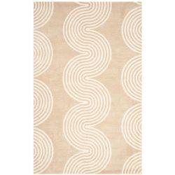 Safavieh Tapis d'intérieur, 6 pi x 9 pi, Chatham Keane, beige / ivoire