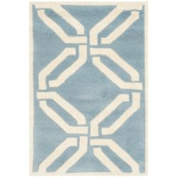 Safavieh Chatham Jimmy Blue / Ivory 2 ft. x 3 ft. Indoor Area Rug