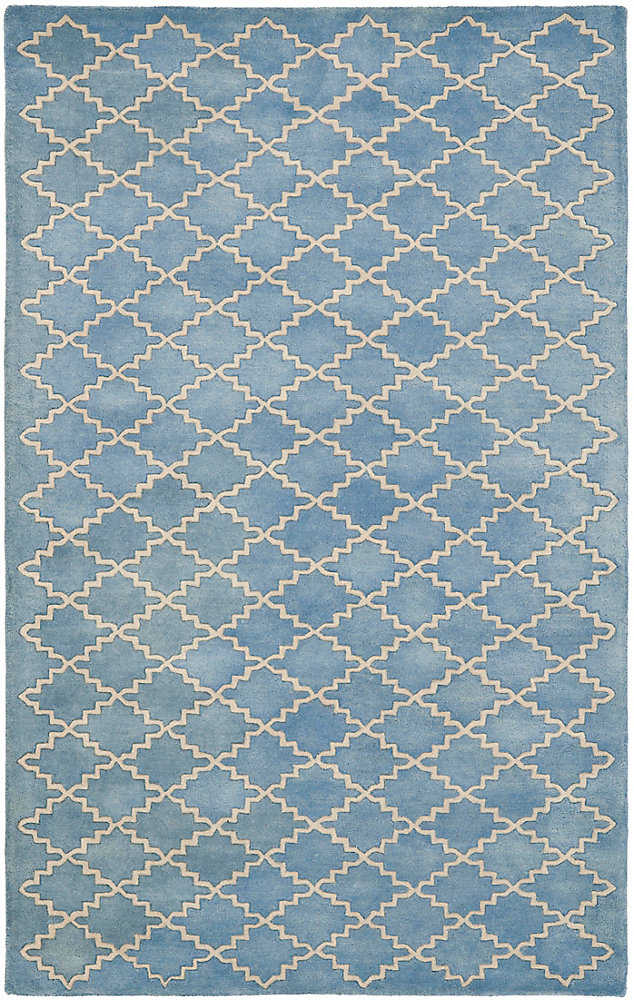 Chatham Adam Blue Grey 4 ft. x 6 ft. Indoor Area Rug