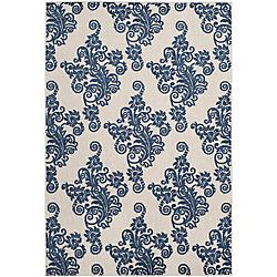 Safavieh Cottage Hector Light Grey / Royal Blue 4 ft. x 6 ft. Indoor/Outdoor Area Rug