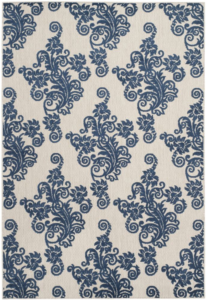 Safavieh Cottage Hector Light Grey / Royal Blue 5 ft. 3 inch x 7 ft. 7 inch Indoor/Outdoor Area Rug