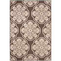Safavieh Cottage Lyn Brown / Beige 5 ft. 3 inch x 7 ft. 7 inch Indoor/Outdoor Area Rug