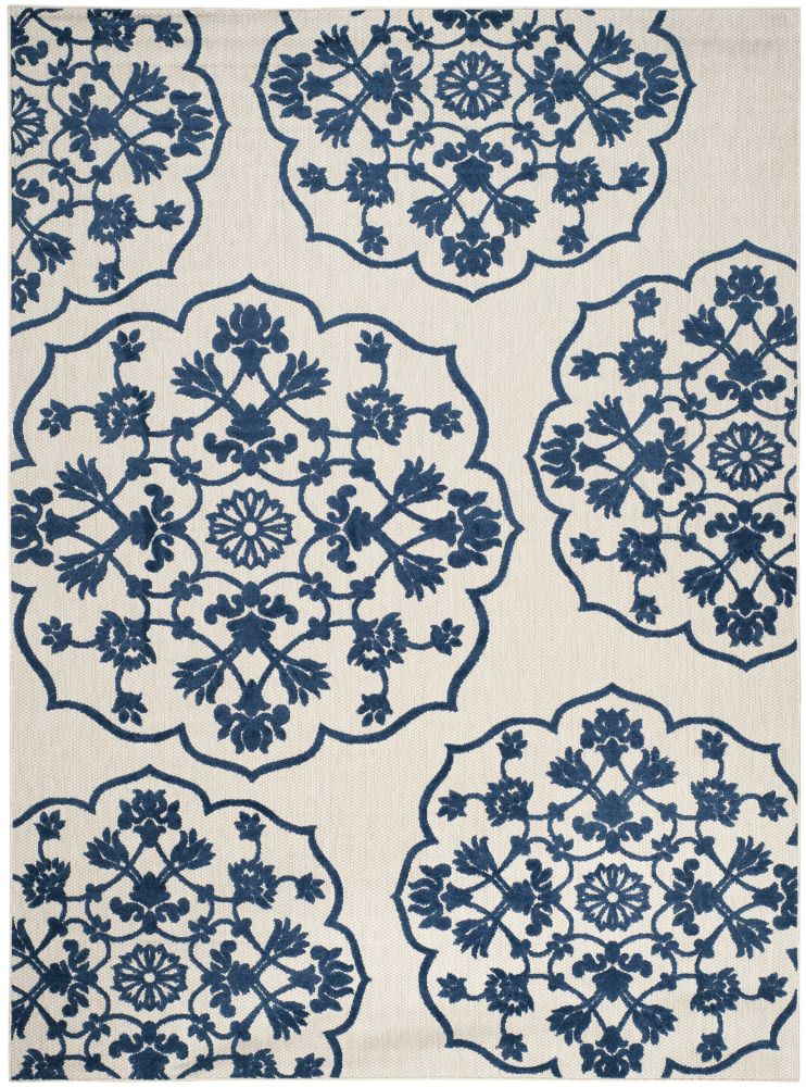 Safavieh Cottage Cynthia Light Grey / Royal Blue 8 ft. x 11 ft. 2 inch Indoor/Outdoor Area Rug
