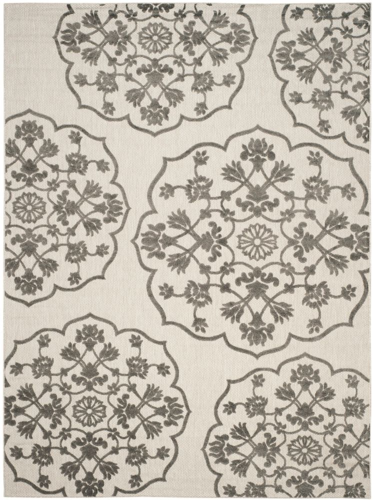 Cottage Cynthia Cream / Grey 8 ft. x 11 ft. 2 inch Indoor/Outdoor Area Rug