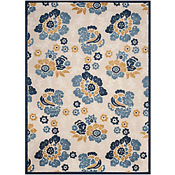 Safavieh Cottage Craig Ivory / Blue 5 ft. 3 inch x 7 ft. 7 inch Indoor/Outdoor Area Rug
