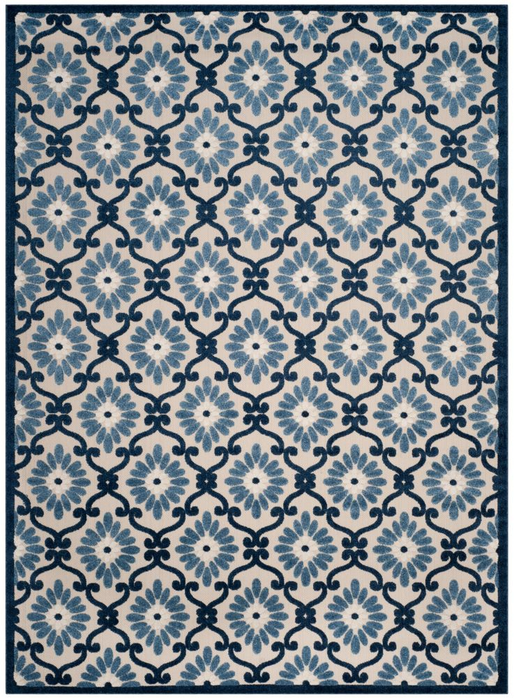 Safavieh Cottage Salazar Ivory / Blue 8 ft. x 11 ft. 2 inch Indoor/Outdoor Area Rug