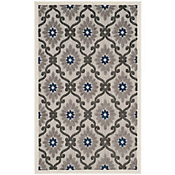 Safavieh Cottage Salazar Grey / Royal 3 ft. 3 inch x 5 ft. 3 inch Indoor/Outdoor Area Rug