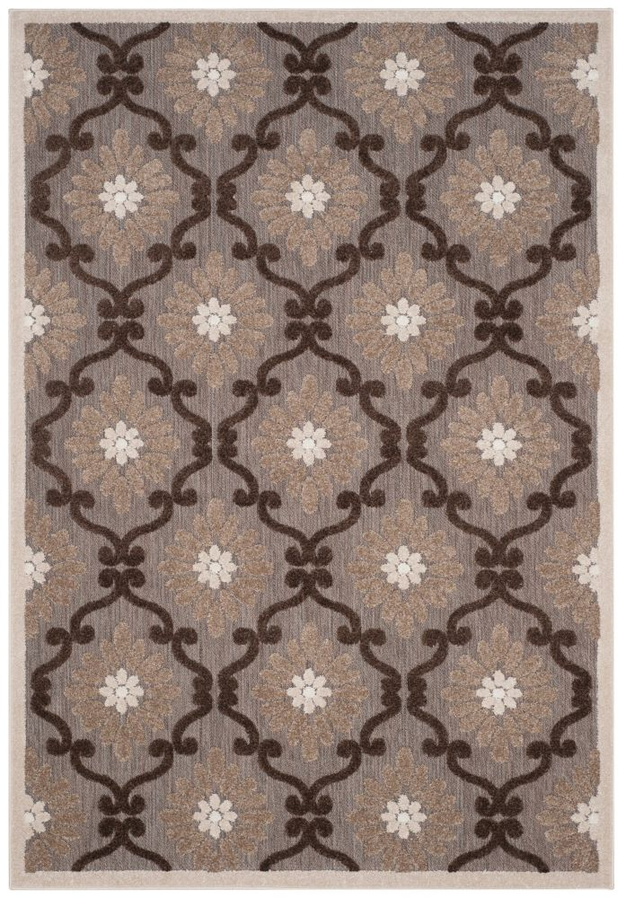 Safavieh Cottage Salazar Light Brown / Brown 5 ft. 3 inch x 7 ft. 7 inch Indoor/Outdoor Area Rug