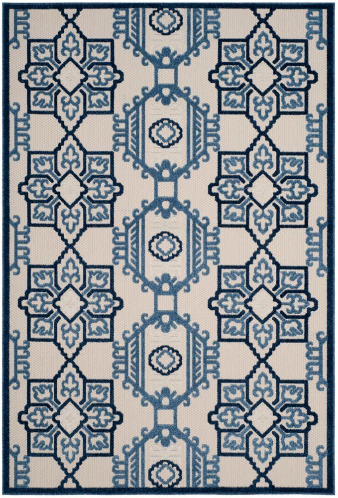 Safavieh Cottage Kierra Ivory / Blue 6 ft. 7 inch x 9 ft. 6 inch Indoor/Outdoor Area Rug