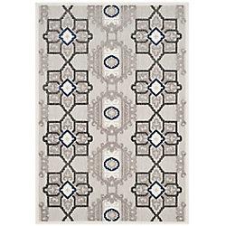 Safavieh Cottage Kierra Grey / Dark Grey 5 ft. 3 inch x 7 ft. 7 inch Indoor/Outdoor Area Rug