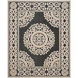 Safavieh Cottage Rose Black / Cream 8 ft. x 11 ft. 2 inch Indoor/Outdoor Area Rug