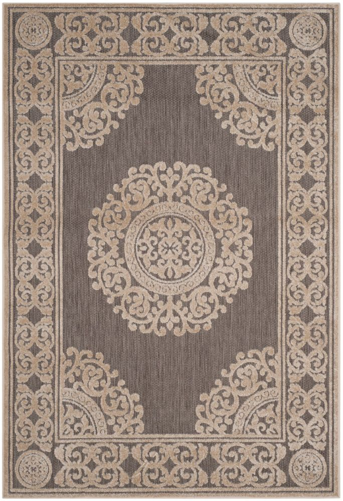Safavieh Cottage Rose Taupe 4 ft. x 6 ft. Indoor/Outdoor Area Rug