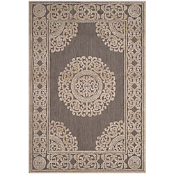 Safavieh Cottage Rose Taupe 5 ft. 3 inch x 7 ft. 7 inch Indoor/Outdoor Area Rug