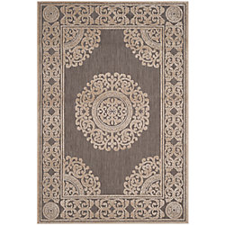 Safavieh Cottage Rose Taupe 6 ft. 7 inch x 9 ft. 6 inch Indoor/Outdoor Area Rug