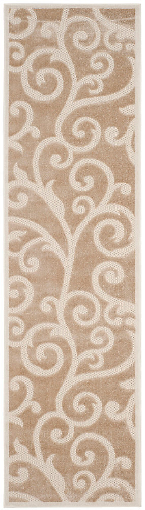 Cottage Pavel Light Beige / Cream 2 ft. 3 inch x 8 ft. Indoor/Outdoor Runner