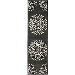Safavieh Cottage Serene Charcoal / Cream 2 ft. 3 inch x 8 ft. Indoor/Outdoor Runner