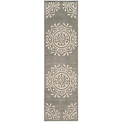 Safavieh Cottage Serene Grey / Cream 2 ft. 3 inch x 8 ft. Indoor/Outdoor Runner