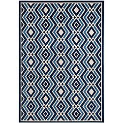 Safavieh Cottage Andrew Ivory / Blue 4 ft. x 6 ft. Indoor/Outdoor Area Rug