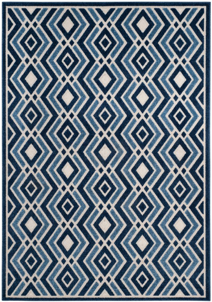 Safavieh Cottage Andrew Ivory / Blue 6 ft. 7 inch x 9 ft. 6 inch Indoor/Outdoor Area Rug