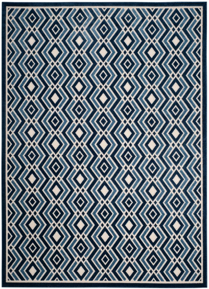 Safavieh Cottage Andrew Ivory / Blue 8 ft. x 11 ft. 2 inch Indoor/Outdoor Area Rug